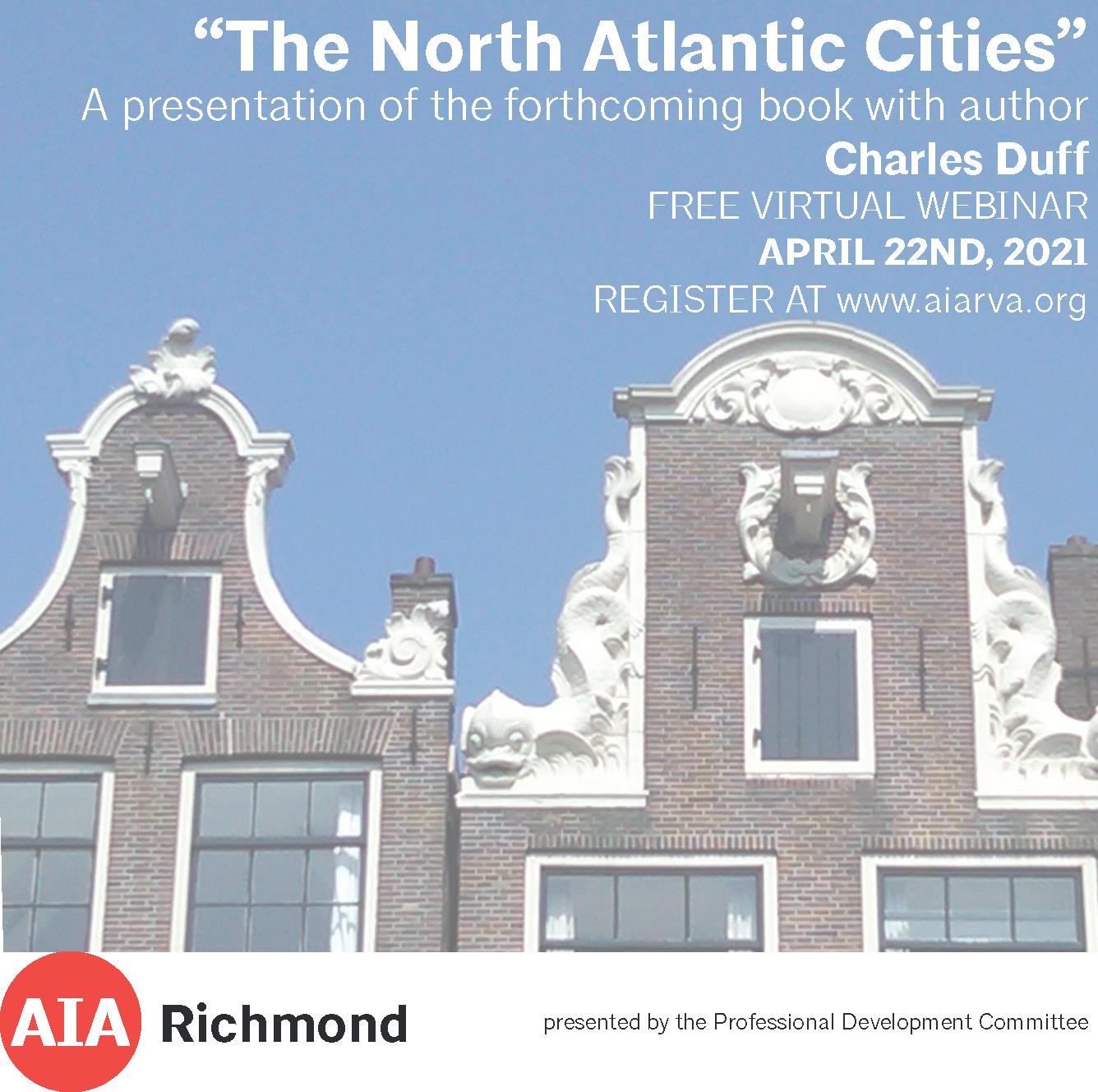 North Atlantic Cities Book Talk graphic